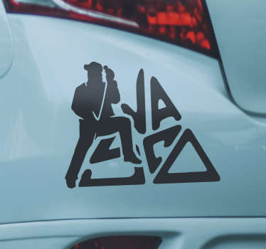 Adesivo auto musicale Vasco Rossi per il tuo veicolo o qualsiasi altra superficie piana di tua scelta. Design facile da applicare e puoi scegliere la dimensione.