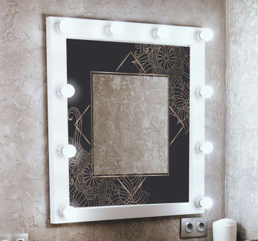 Spring flower mirror bathroom decal design to change the face of your space with uniqueness and class. Easy to apply and you can choose the size.
