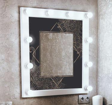Diseño de vinilo de baño para espejo de flores de primavera para cambiar el aspecto de su espacio con singularidad y clase. Fácil de aplicar y puedes elegir el tamaño.