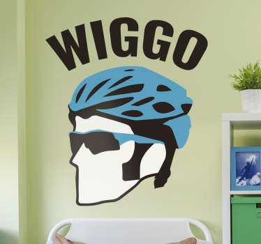 Bradley Wiggins wiggo cycling face art wall decal that will be nice in the living room or bedroom. This product of high quality is very easy to apply.