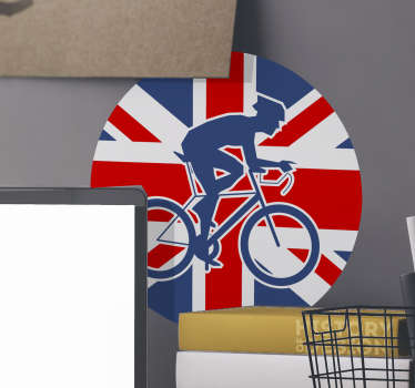 British cyclist  cyclist wall sticker for your living room, bedroom or anywhere of your choice This product is very easy to apply and you will love it.