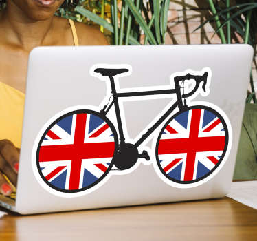 Union Jack bike cycling decal product is what you want to style your gadget like laptops with to make it look nice and not boring. Its easy to apply.