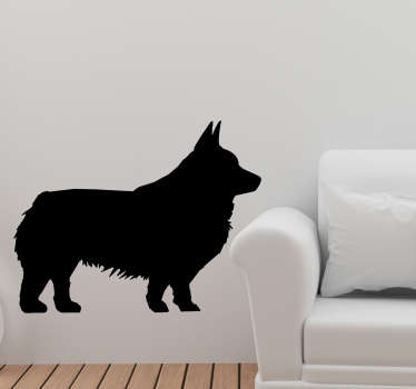 Welsh corgi silhouette wall decor design of a corgi animal in silhouette format. This art design is very unique and will be nice for the home.