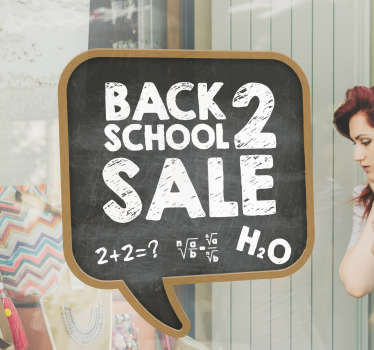 If you trying to promote sales for a season, why not buy this back to school sale chalk wall sticker designed in a chalk board style.Its Easy to apply