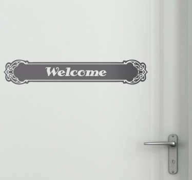 Sticker pour porte Welcome