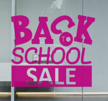 Advertise your seasonal offer with this cool back to  school sale sticker created in pink colour and can be in any colour and size of your choice.