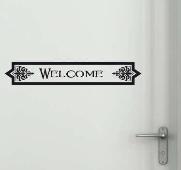 Vinilo para puerta welcome decó