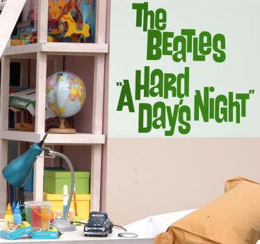 Stencil muro A Hard Day's Night