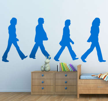 Wall Stickers - Silhouette illustration of the famous album cover from the eleventh studio album by the English rock band the Beatles.