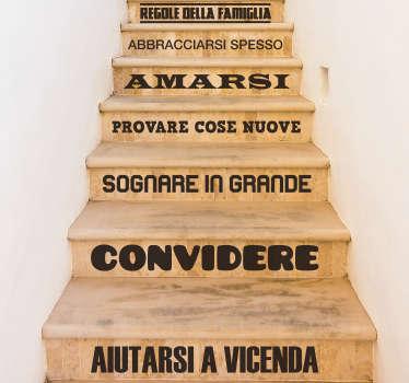 Adesivo per il testo delle regole della casa per la tua casa. Questo prodotto sarà bello essere a casa tua, in particolare il soggiorno o la scala per controllare gli ordini.