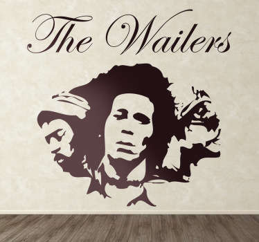 Sticker decorativo logo The Wailers