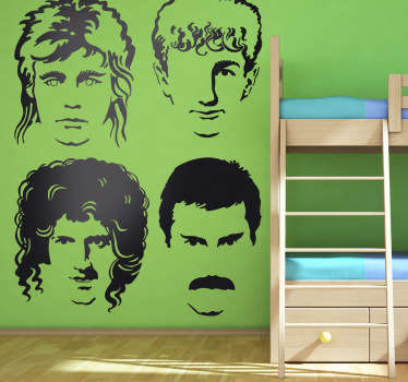 Vinilo decorativo caras Queen