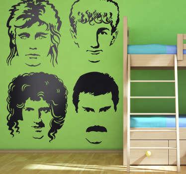 Adhesivo  del grupo de música Queen, banda de rock británica compuesta entre ellos por el famoso cantante Freddie Mercury.