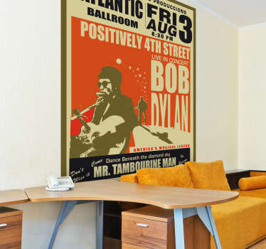 Sticker decorativo poster Bob Dylan