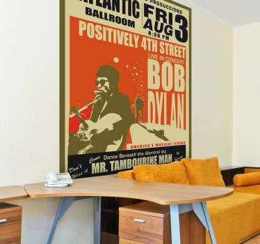 Sticker decorativo poster Bob Dylan