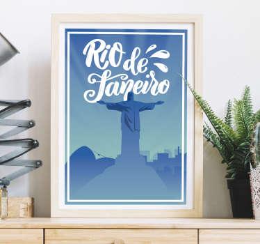 Decora a tua casa com este autocolante decorativo de cidades alusivo à maior cidade do Brasil, Rio de Janeiro.