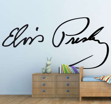 Vinilo decorativo firma Elvis Presley