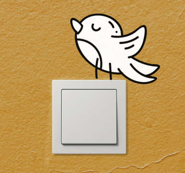Vinilo decorativo para interrutpor de pájaro para darle un toque único a su hogar. Este producto puede ser de cualquier tamaño a su elección