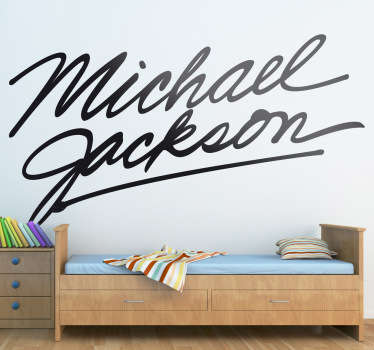 Sticker naam Michael Jackson