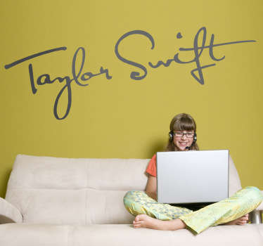 Vinilo decorativo firma Taylor Swift