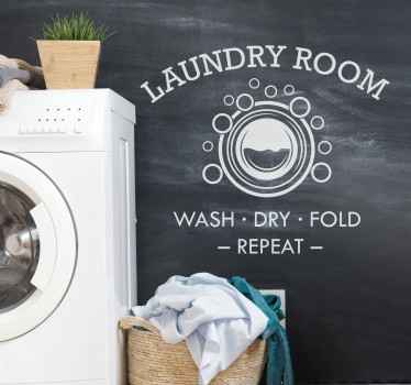 You can have this laundry room home sticker at your laundry space to make it look nicer and keep  in mind what the space is for.