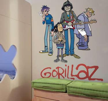 Vinilo decorativo Gorillaz