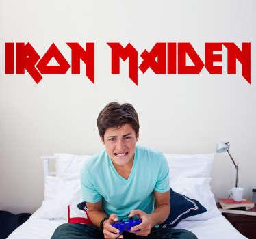 Sticker decorativo logo Iron Maiden 1