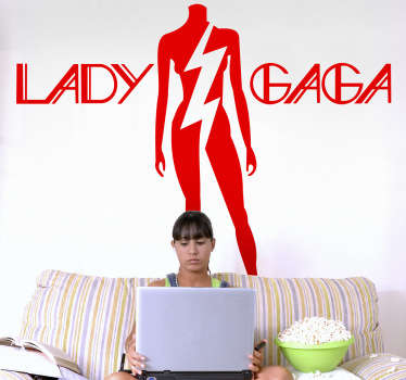 Sticker decorativo logo Lady Gaga