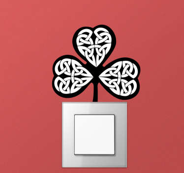 Celtic shamrock wall sticker design of the shamrock  in its clovers of three representing the ancient druid. This product is designed with quality.