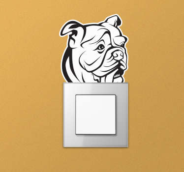 An English bulldog wall sticker design in an art drawing form that will be nice on any flat surface. This design is finished in high quality matte.