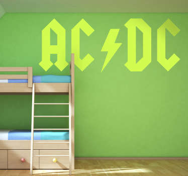 Sticker decorativo logo AC DC 1