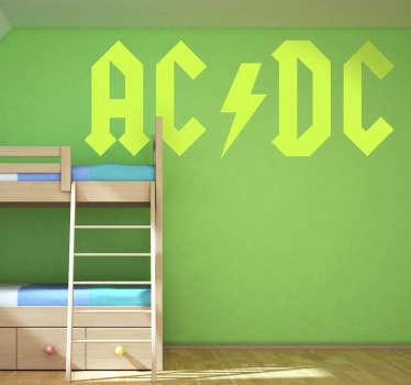 Naklejka dekoracyjna logo AC DC