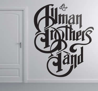 Adhesivo de la banda de rock sureño: The Allman Brothers Band. Famosos por sus directos y por su estilo de música entre el blues, jazz, y el rock and roll.