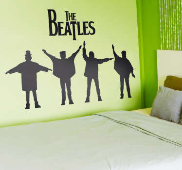 Autocollant mural logo Beatles Help