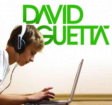 Autocollant mural logo David Guetta