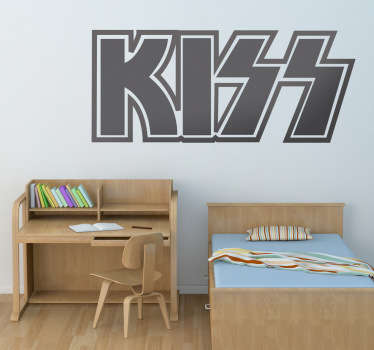 Sticker décoratif logo Kiss