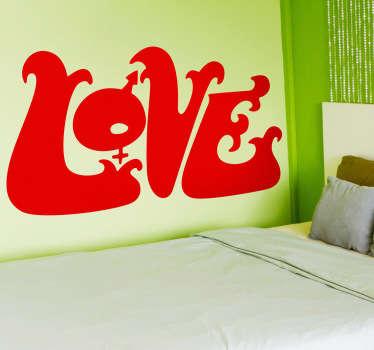 Vinilo decorativo logo Love