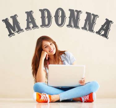 Vinilo decorativo logo Madonna