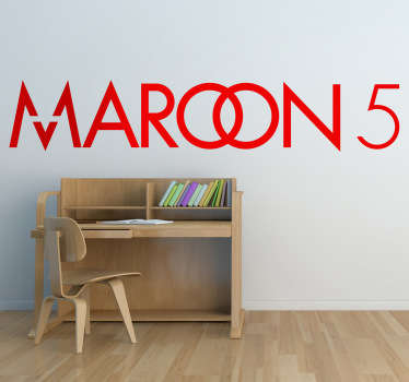 Sticker decorativo logo Maroon 5