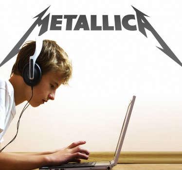 Sticker muziek logo Metallica