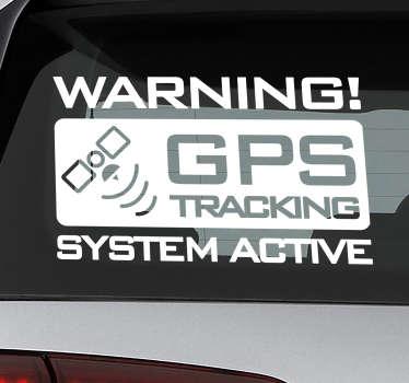 Gps sporingsikon bilklistermærke til dine køretøjer, lastbiler og varevogn. Design skabt med mat af høj kvalitet og meget let at anvende på overfladen.