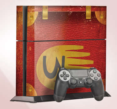 Gravity falls play station 4 skin sticker design in red and yellow colour that you will love to ply your game with. This design is easy to a apply.