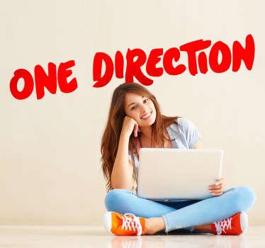 Sticker decorativo logo One Direction