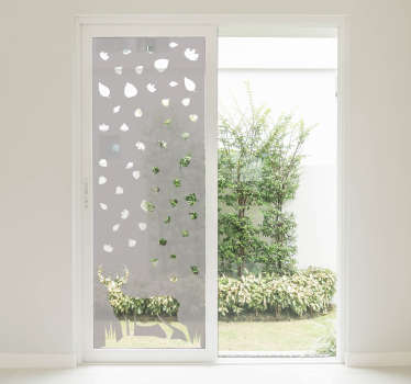 A translucent deer animal window sticker for all your mirror and glass surfaces in your home . This design is very easy to apply on any surface.