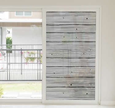 A decorative ornamental wooden texture patterned window sticker to beautify the surface of your windows at home. This design is very easy to apply.