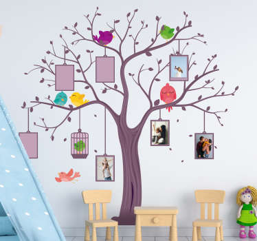 Decorate your home with this tree wall art decal that you can apply photos on. Easy to apply on the surface and you will love it.