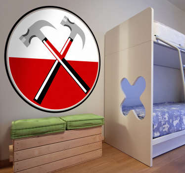 Naklejka dekoracyjna przedstawiająca logo brytyjskiego zespołu rockowego Pink Floyd. Obrazek jest dostępny w wielu wymiarach.