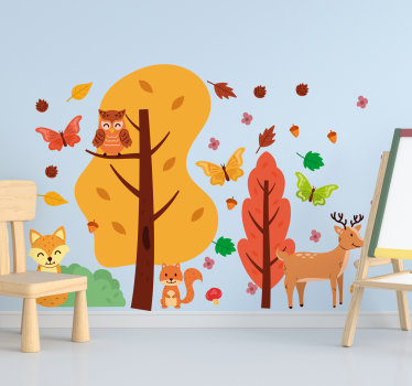 Nordic children bedroom animal wall sticker design that will creates happy moments and excitement to your kid. You can chose the size you want.