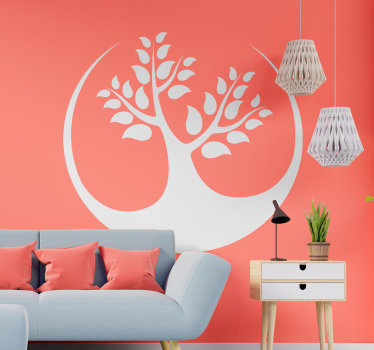 An original tree wall decal design that will make a great difference to change the appearance of your living home. This design is easy to apply.