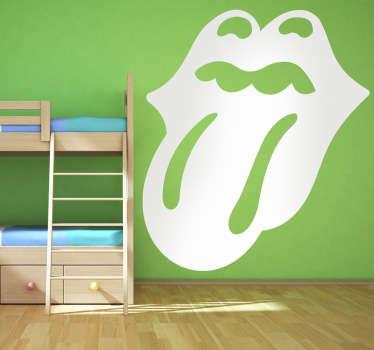 Adhesivo con el símbolo de la famosa banda de rock The Rolling Stones. Son considerados uno de los grupos más grandes e influyentes en el mundo de la música.